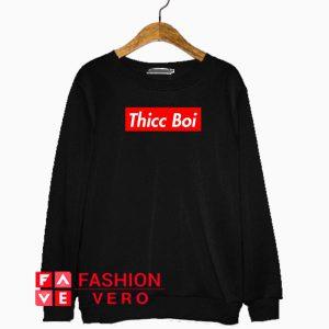 Thicc Boi Red Boxlogo Sweatshirt