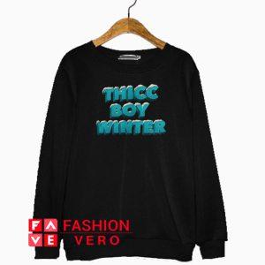 Thicc Boy Winter Block Logo Sweatshirt