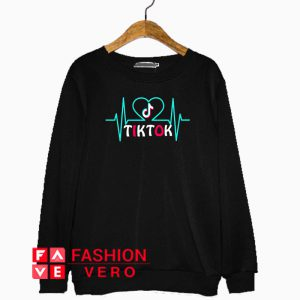 Tik Tok Heart Pulse Logo Sweatshirt