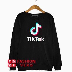 Tik Tok Letter Crown Logo Sweatshirt
