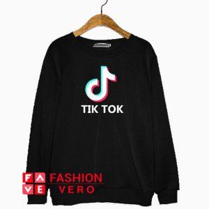 Tik Tok Letter Logo Sweatshirt