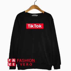 TikTok Red Box Logo Sweatshirt