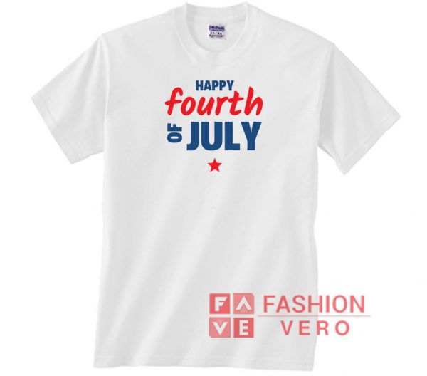 Happy Fourth Of July Letters Unisex adult T shirt