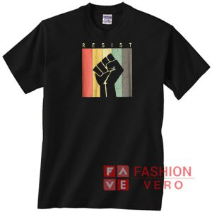 Resist Fist Retro Vintage Unisex adult T shirt