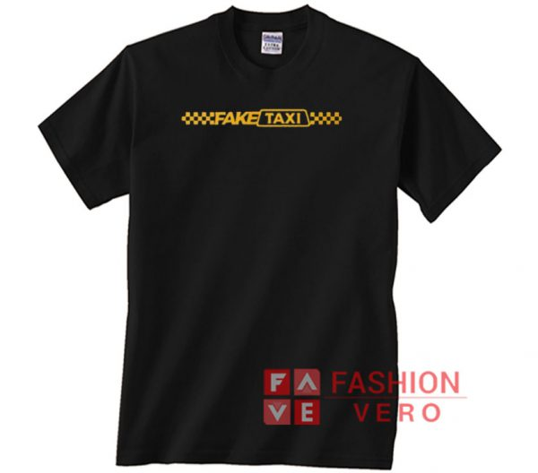 Fake Taxi Striped Logo Unisex adult T shirt