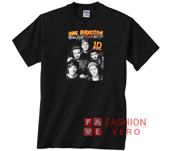 One direction on the road again 2015 Unisex adult T shirt